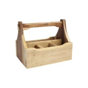 Nordic 4 Compartment Table Caddy Natural image