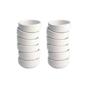 Set of 12 Porcelain White Dishes (Fits Board 27037) image