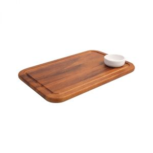 Medium Serving Board With Groove & Recess (Dish Not Included) image