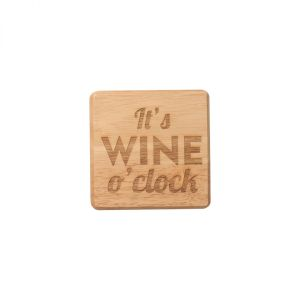 It's Wine O'Clock Coaster image