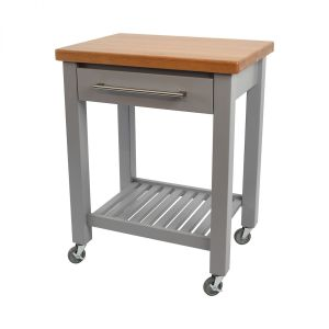 Studio Trolley Grey Hevea / Oak Top - Assembled image