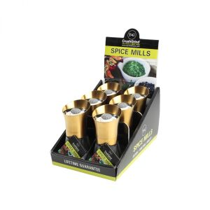 POS Display Box Containing 6 Spice Mills Deco Gold Plus Additional 6 image
