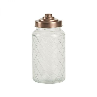 Large Lattice Glass Jar image