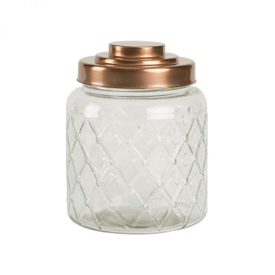 Fat Lattice Glass Jar image