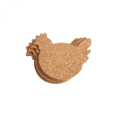Set Of 4 Chicken Coasters image
