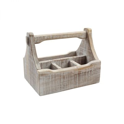 Nordic 4 Compartment Table Caddy White image