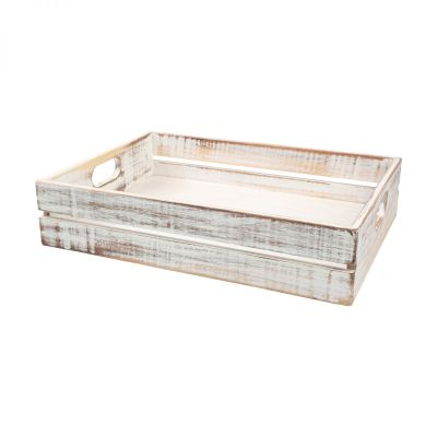 Drift Large Crate Rustic White image