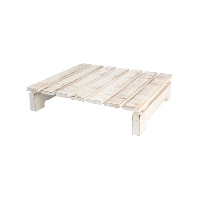 Drift Square Slatted Table Rustic White image