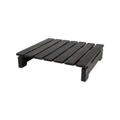 Drift Square Slatted Table Rustic Black image