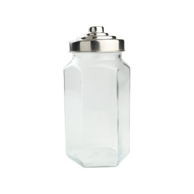 Large Hexagon Glass Jar image
