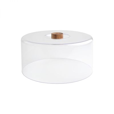 Tall Clear Polypropylene Dome With Acacia Knob (Fits Board 10955) image