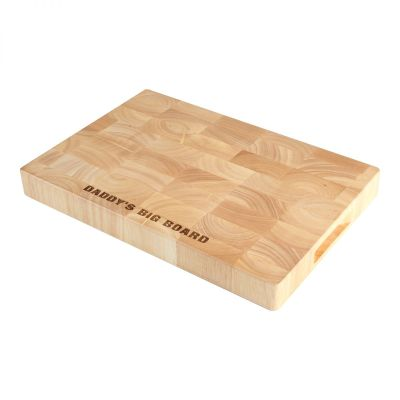 Personalised Rectangular Wooden End Grain Board image