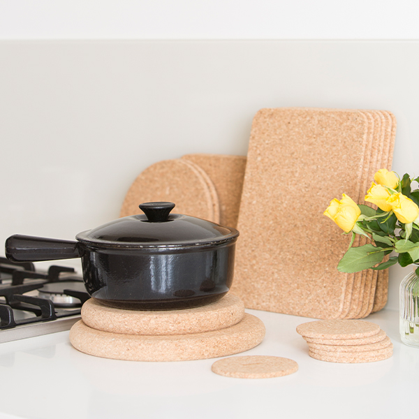 T G Fsc Certified Cork Tablemats Coasters And Pot Stands And Trivets