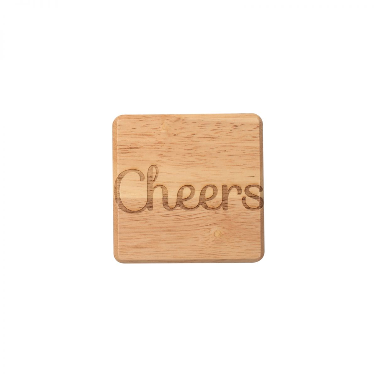 T G Wooden Cheers Coaster