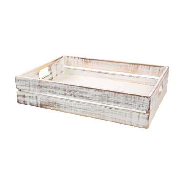 Drift Large Crate Rustic White