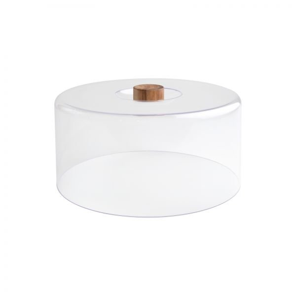 Tall Clear Polypropylene Dome With Acacia Knob (Fits Board 10955)