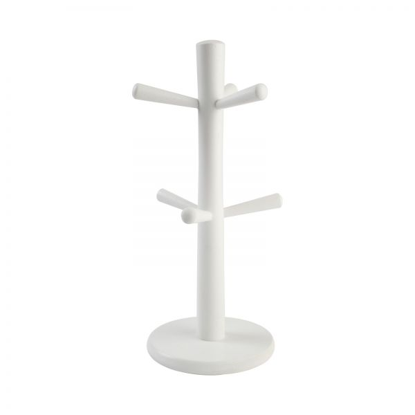 6 Peg Mug Tree White