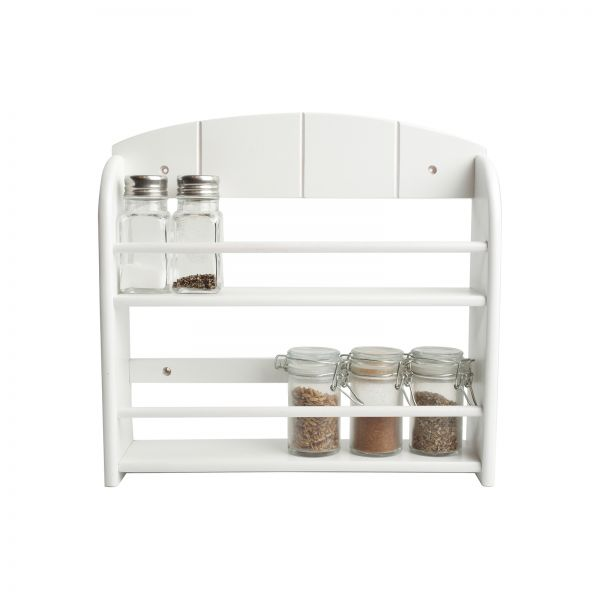 12 Jar Spice Rack White (Includes Fixings)
