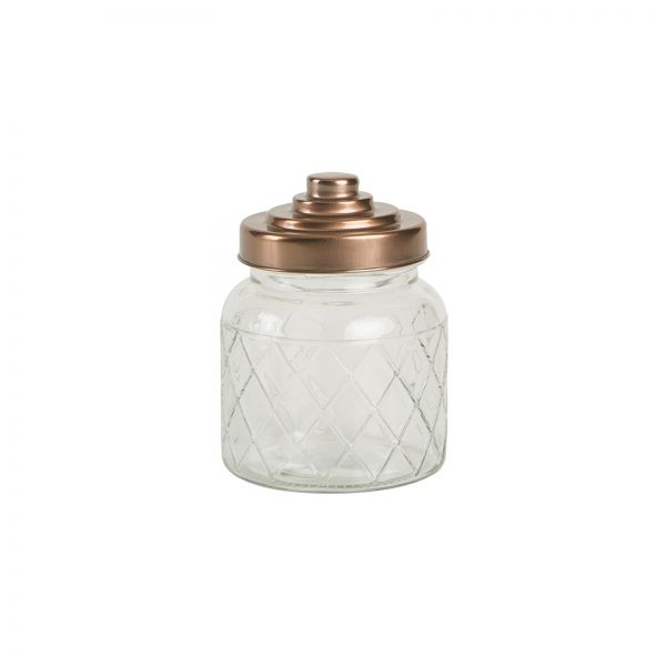 Small Lattice Glass Jar