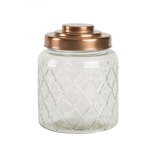 Fat Lattice Glass Jar