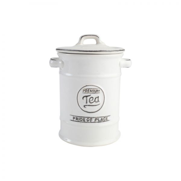 Pride Of Place Tea Jar White