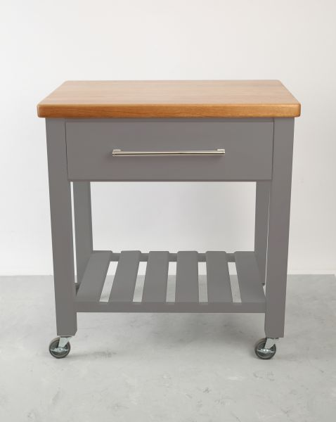 Loft Trolley Grey Hevea / Oak Top - Assembled