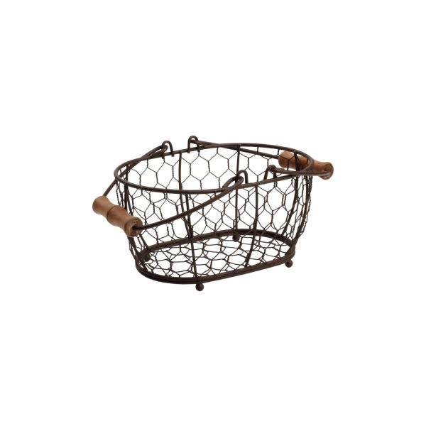 Provence Small Oval Basket Rustic Brown