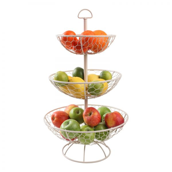 Provence 3 Tier Basket Cream (Self Assembly)