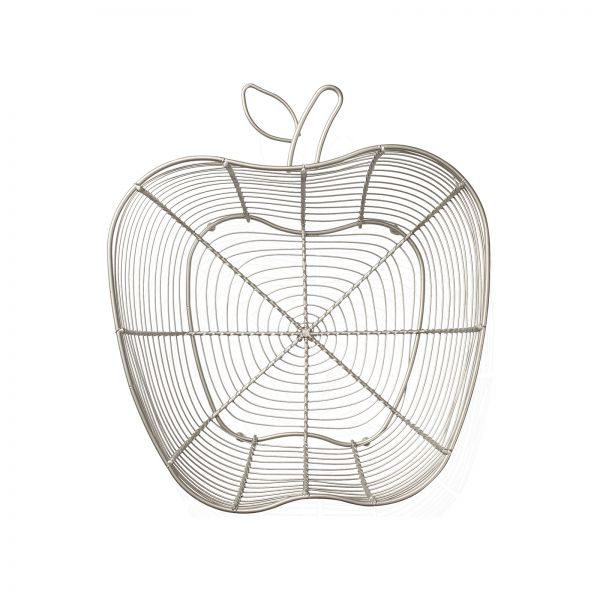Tutti Frutti Apple Basket Satin Grey