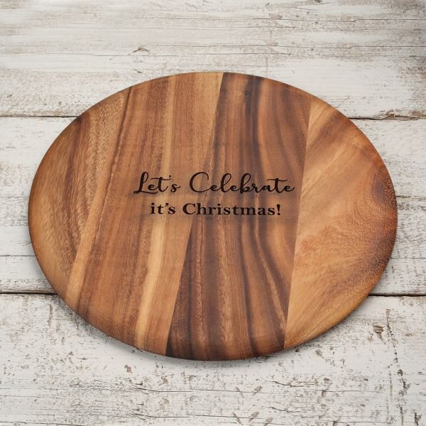 Personalised Round Wooden Board