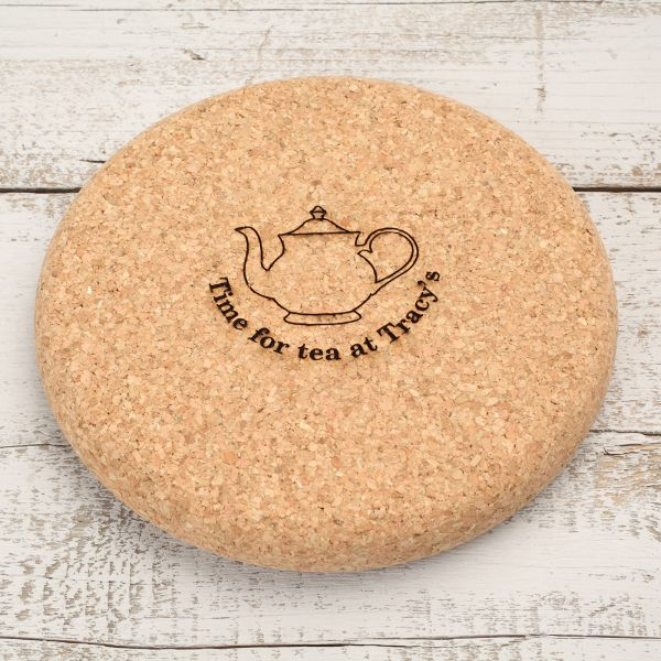 Personalised Cork Teapot Stand