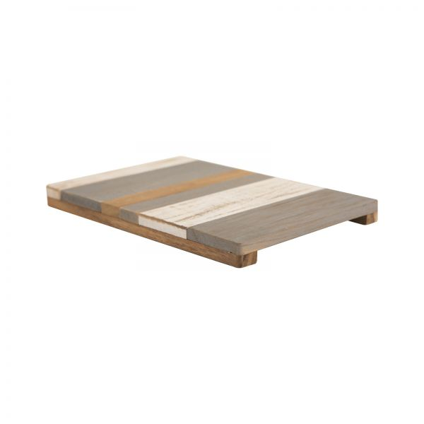 Drift Large Trivet Grey White & Acacia