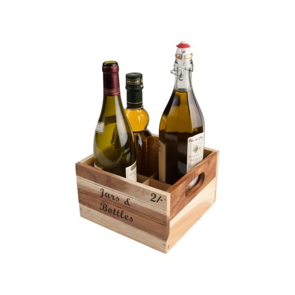 Baroque 4 Bottle Crate - Jars & Bottles image
