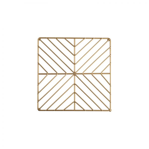 Deco Square Trivet Satin Gold image