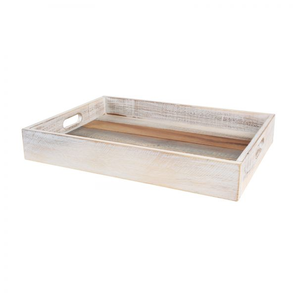 Drift Large Tray Grey White & Acacia image