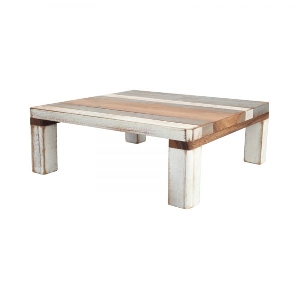 Drift Square Table Grey White & Acacia image