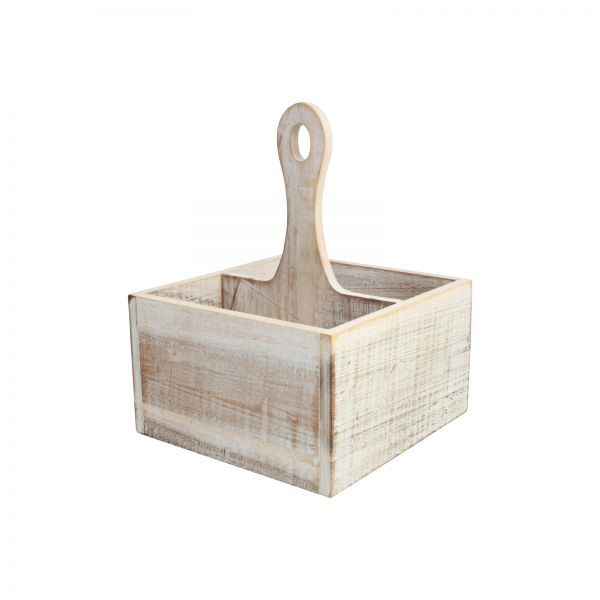 Drift Table Tidy With 4 Compartments Rustic White image