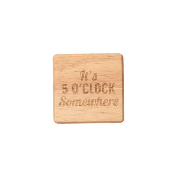 It's Five O'Clock Somewhere Coaster image