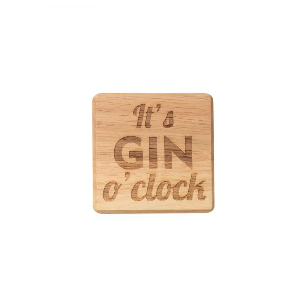 It's Gin O'Clock Coaster image