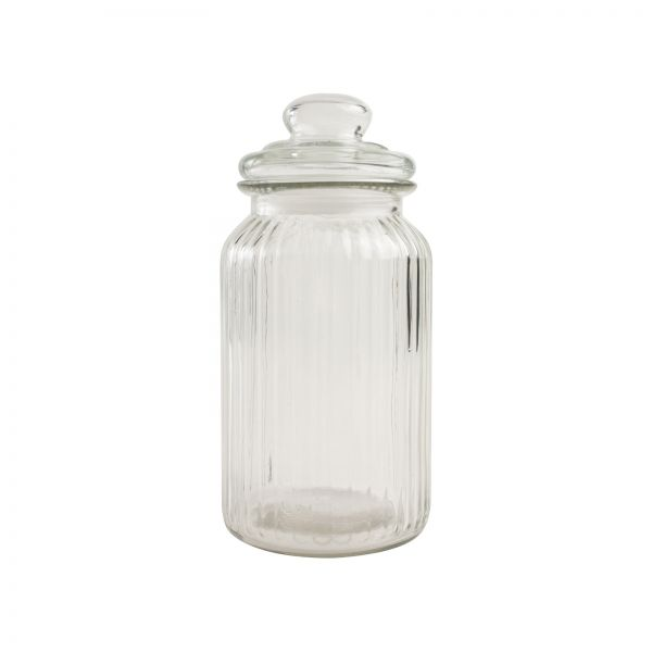 Large Ribbed Glass Jar image