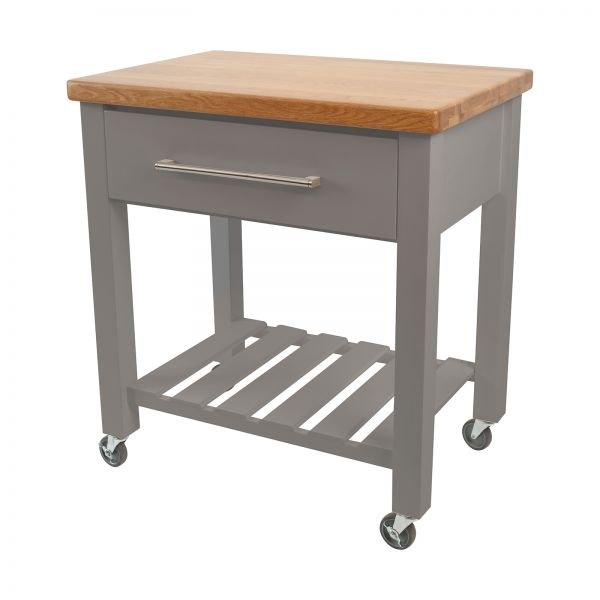 Loft Trolley Grey Hevea / Oak Top - Flat Packed image