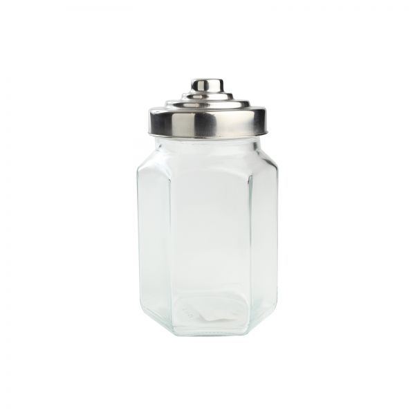 Medium Hexagon Glass Jar image