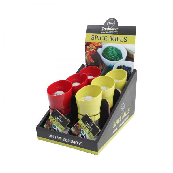 POS Display Box Containing 6 Sola Spice Mills Red/Green Plus Additional 6 image
