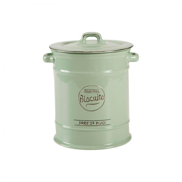 Pride Of Place Large Biscuit Jar Old Green image