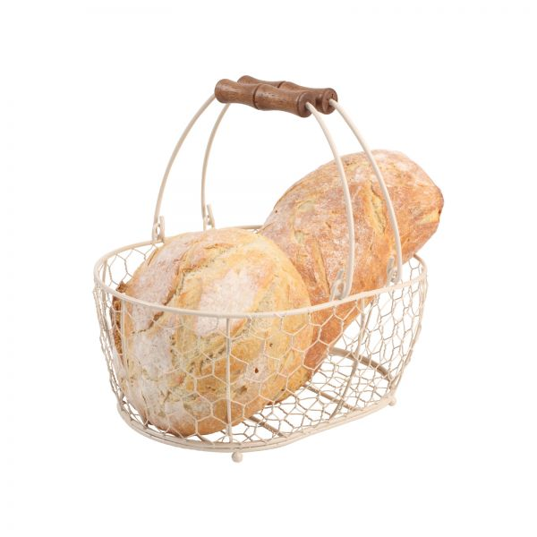 Provence Medium Oval Basket Cream image